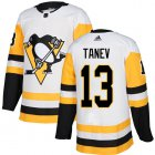 Cheap Adidas Penguins #13 Brandon Tanev White Road Authentic Stitched NHL Jersey