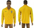 Cheap Brazil Soccer Jackets Yellow