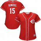 Cheap Reds #15 Nick Senzel Red Alternate Women's Stitched MLB Jersey