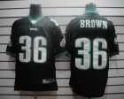 Cheap Eagles #36 Ronnie Brown Black Stitched NFL Jersey