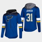 Cheap Blues #31 Chad Johnson Blue 2018 Pullover Platinum Hoodie