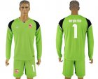 Cheap Sevilla #1 Sergio Rico Green Goalkeeper Long Sleeves Soccer Club Jersey