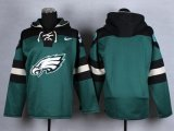 Cheap Nike Eagles Blank Midnight Green Player Pullover NFL Hoodie