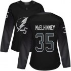 Cheap Adidas Lightning #35 Curtis McElhinney Black Alternate Authentic Women's Stitched NHL Jersey