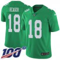Cheap Nike Eagles #18 Jalen Reagor Green Men's Stitched NFL Limited Rush 100th Season Jersey