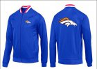 Cheap NFL Denver Broncos Team Logo Jacket Blue_1