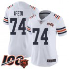 Cheap Nike Bears #74 Germain Ifedi White Alternate Women's Stitched NFL Vapor Untouchable Limited 100th Season Jersey