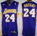 Cheap Los Angeles Lakers #24 Kobe Bryant Purple Swingman Jersey