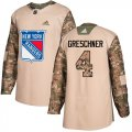 Cheap Adidas Rangers #4 Ron Greschner Camo Authentic 2017 Veterans Day Stitched NHL Jersey