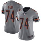 Cheap Nike Bears #74 Germain Ifedi Silver Women's Stitched NFL Limited Inverted Legend Jersey