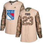 Cheap Adidas Rangers #23 Adam Foxs Camo Authentic 2017 Veterans Day Stitched NHL Jersey