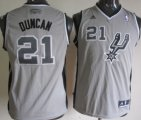 Cheap San Antonio Spurs #21 Tim Duncan Gray Kids Jersey