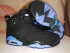 Cheap Womens Air Jordan 6(VI) Retro Shoes Black/Blue
