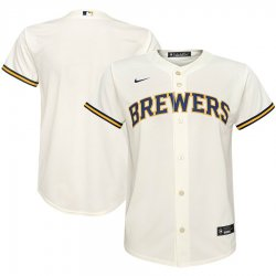 Cheap Milwaukee Brewers Nike Youth Home 2020 MLB Team Jersey Cream