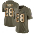 Cheap Nike Colts #28 Jonathan Taylor Olive/Gold Youth Stitched NFL Limited 2017 Salute To Service Jersey