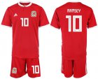 Cheap Wales #10 Ramsey Red Home Soccer Club Jersey