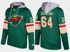 Cheap Wild #64 Mikael Granlund Green Name And Number Hoodie