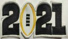 Cheap 2021 College Football National Championship Game Jersey Black Number Patch