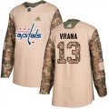 Cheap Adidas Capitals #13 Jakub Vrana Camo Authentic 2017 Veterans Day Stitched NHL Jersey