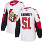 Cheap Adidas Senators #51 Artem Anisimov White Road Authentic Stitched NHL Jersey