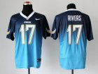Cheap Nike Chargers #17 Philip Rivers Navy Blue/Electric Blue Men's Stitched NFL Elite Fadeaway Fashion Jersey