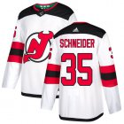 Cheap Adidas Devils #35 Cory Schneider White Road Authentic Stitched Youth NHL Jersey