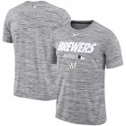 Cheap Milwaukee Brewers Nike Authentic Collection Velocity Team Issue Performance T-Shirt Gray