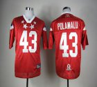 Cheap Steelers #43 Troy Polamalu Red 2012 Pro Bowl Stitched NFL Jersey