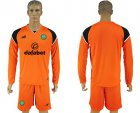 Cheap Celtic Blank Orange Goalkeeper Long Sleeves Soccer Club Jersey