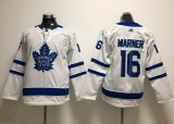 Cheap Adidas Maple Leafs #16 Mitchell Marner White Road Authentic Stitched Youth NHL Jersey