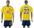 Cheap Ukraine #22 Kravets Home Soccer Country Jersey
