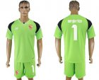 Cheap Sevilla #1 Sergio Rico Green Goalkeeper Soccer Club Jersey