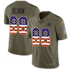 Cheap Nike Panthers #88 Greg Olsen Olive/USA Flag Youth Stitched NFL Limited 2017 Salute to Service Jersey