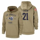 Cheap Los Angeles Rams #21 Aqib Talib Nike Tan 2019 Salute To Service Name & Number Sideline Therma Pullover Hoodie