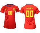 Cheap Women's Spain Personalized Home Soccer Country Jersey