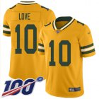 Cheap Nike Packers #10 Jordan Love Gold Youth Stitched NFL Limited Inverted Legend 100th Season Jersey