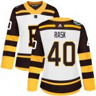 Cheap Adidas Bruins #40 Tuukka Rask White Authentic 2019 Winter Classic Women's Stitched NHL Jersey