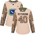 Cheap Adidas Canucks #40 Elias Pettersson Camo Authentic 2017 Veterans Day Women's Stitched NHL Jersey