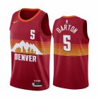 Cheap Nike Nuggets #5 Will Barton Red NBA Swingman 2020-21 City Edition Jersey