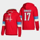 Cheap Washington Capitals #17 Sergei Shumakov Red adidas Lace-Up Pullover Hoodie