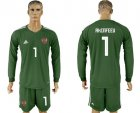 Cheap Russia #1 Akinfeev Army Green Long Sleeves Goalkeeper Soccer Country Jersey