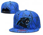 Cheap Panthers Team Logo Blue Adjustable Hat TX