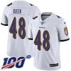 Cheap Nike Ravens #48 Patrick Queen White Youth Stitched NFL 100th Season Vapor Untouchable Limited Jersey