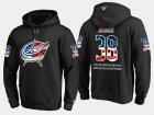 Cheap Blue Jackets #38 Boone Jenner NHL Banner Wave Usa Flag Black Hoodie