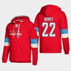 Cheap Washington Capitals #22 Madison Bowey Red adidas Lace-Up Pullover Hoodie