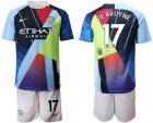 Cheap Manchester City #17 De Bruyne Nike Cooperation 6th Anniversary Celebration Soccer Club Jersey