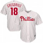 Cheap Phillies #18 Didi Gregorius White(Red Strip) New Cool Base Stitched MLB Jersey