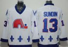 Cheap Nordiques #13 Mats Sundin White CCM Throwback Stitched NHL Jersey