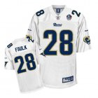 Cheap Rams #28 Marshall Faulk White Hall of Fame 2011 Stitched NFL Jersey