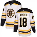 Cheap Adidas Bruins #18 Brett Ritchie White Road Authentic Stitched NHL Jersey